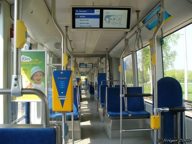 der Fahrgastraum der ngt12-lei