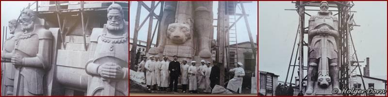 der Bau des Völkerschlachdenkmals