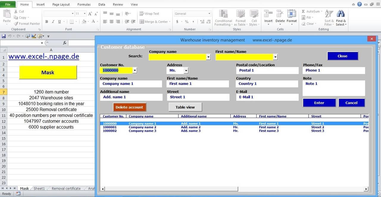 Name management vba - 3_warehouse Management Program Integrated Vendor And Customer Accounts Excel Vba Programming