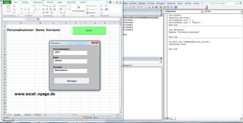Entwicklung von Programmen in Excel, Excel VBA Programmierung: Lager ...