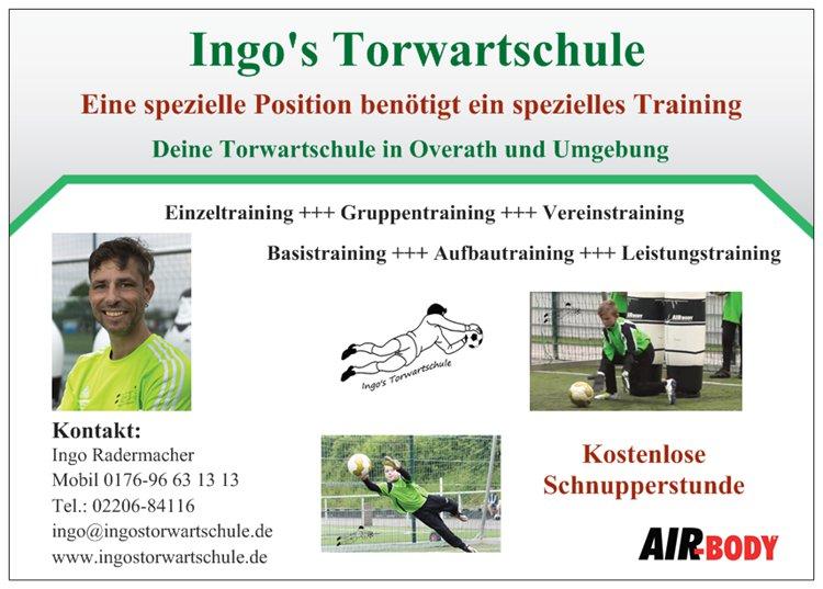 Flyer Ingo's Torwartschule (Vorderseite)