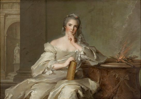 """Anne Henriette als """"Das Feuer"""" (1751, Jean-Marc Nattier)"""