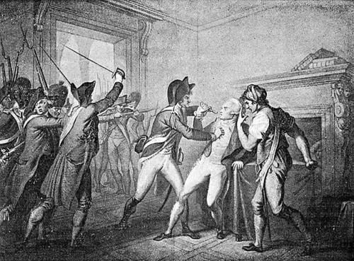 Festnahme Robespierres im Hôtel de Ville am 27.07.1794