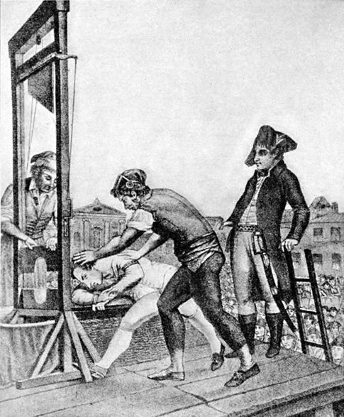 Hinrichtung Robespierres am 28.07.1794