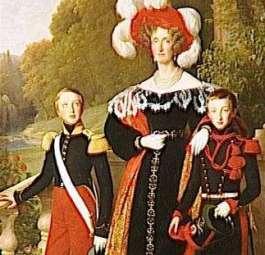 Marie-Amélie und ihre Söhne, 1835