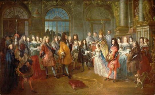 Hochzeit von Louis de Bourgogne & Marie Adélaïde de Savoie am 17.12.1697 (Anton Dieu)