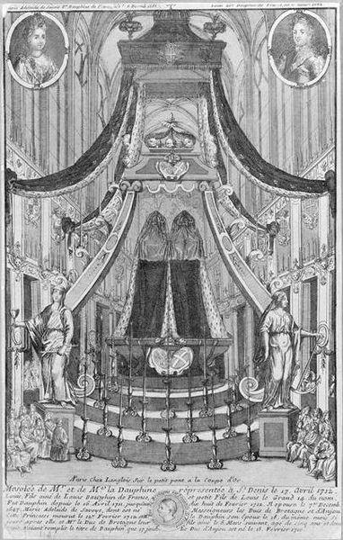 Mausolée de Monsieur le Dauphin et de Madame la Dauphine à Saint-Denis, 17.04.1712