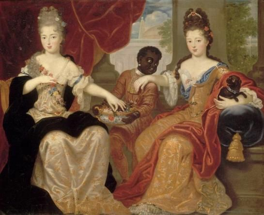 Françoise Marie mit ihrer Schwester, der Mademoiselle de Nantes (Claude-François Vignon)