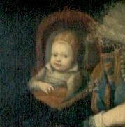 Nicolas Henri de France in der Wiege