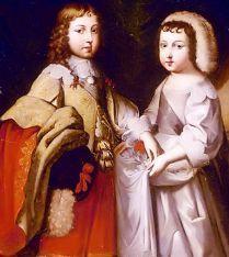 Philippe (re.) mit Bruder Louis XIV. (unbek. Künstler)