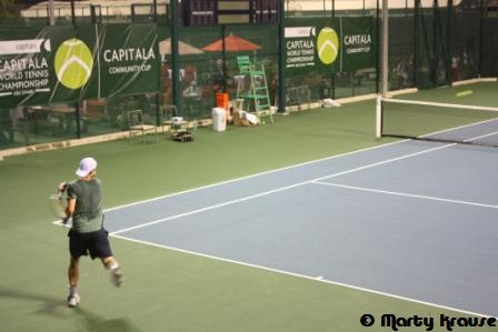 Trainingssession Roddick