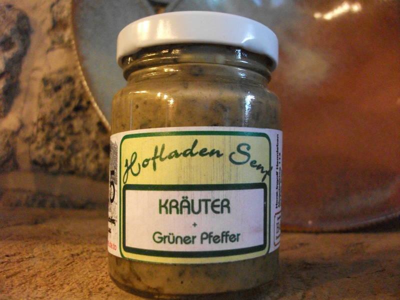 Kraeter + grüner Pfeffer Senf