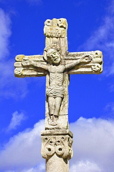 Cruz, Kreuzfahrt, Christus, Gekreuzigt, Bild, Passion