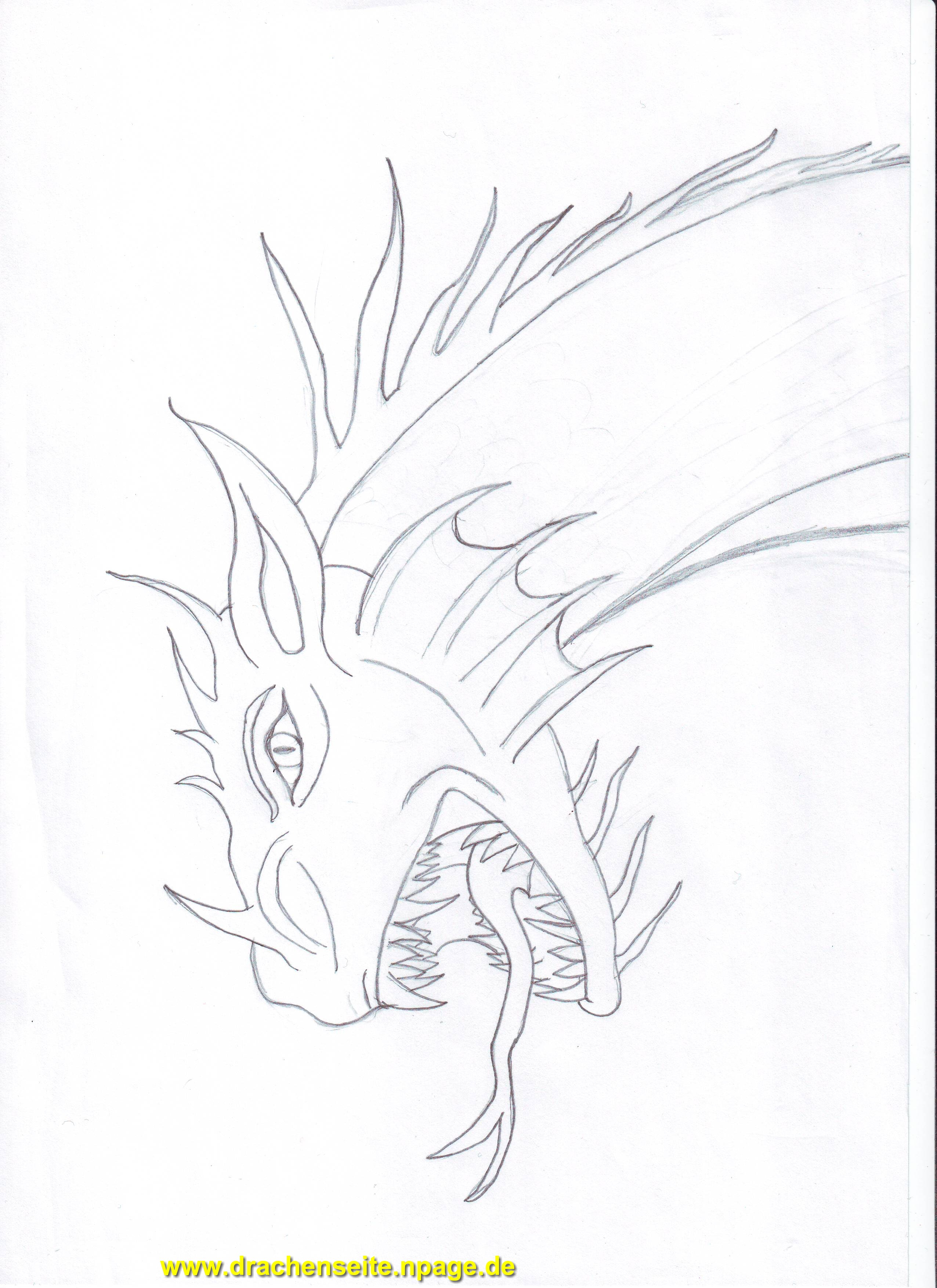drachen einfach zeichnen