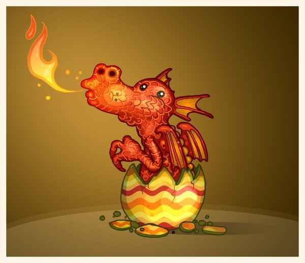 Frohe Ostern Drache happy easter Dragon