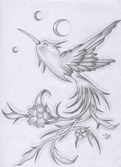 kolibri tattoo vorlage