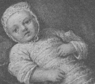 Marie Antoinette als Baby (1756)