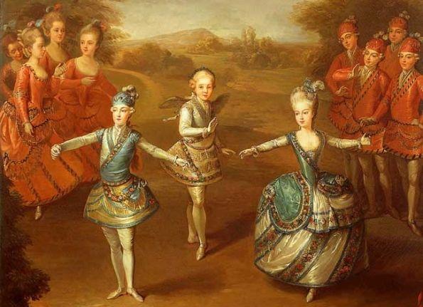Marie Antoinette mit Brüdern Ferdinand und Maximilian (1765, Johann Georg Weickert)