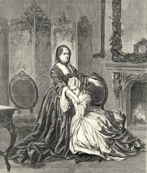 Abschied Maria Antonias von ihrer Mutter Maria Theresia