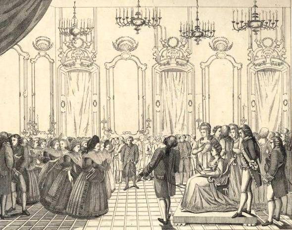 Ball im Liebert´schen Palais in Augsburg zu Ehren der Erzherzogin (F. Th. Weber)