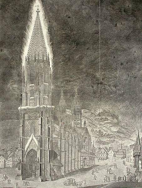 Illumination des Freiburger Münsters zu Ehren Maria Antonias