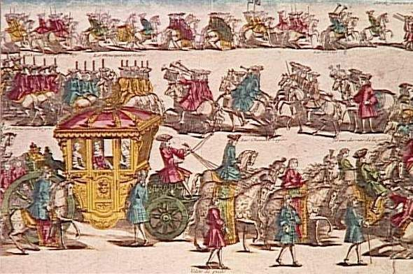 Ankunft der Dauphin in Versailles
