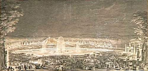 Illuminations du parc de Versailles (Jean Michel Moreau)