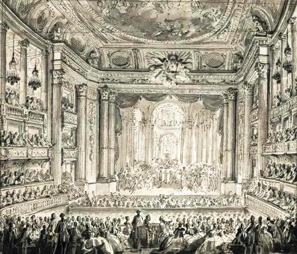 Operaufführung am 23.05.1770 in der Versailler Oper, anlässlich der Hochzeitsfeierlichkeiten