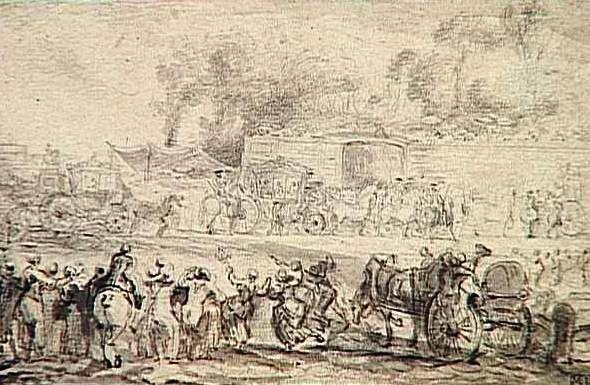Louis Auguste und Marie Antoinette besuchen am 08.06.1773 erstmals die Stadt Paris (1773, Gabriel Jacques de Saint-Aubin)