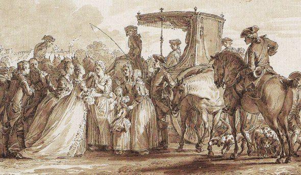 """""""Le trait d´humanité de Madame la Dauphine"""" (Jean Michel Moreau)"""