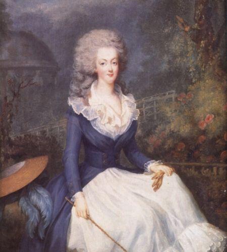 Marie Antoinette im Reiterdress im Parc de Trianon (1778, Antoine Vestier)
