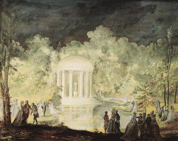 Fest zu Ehren des Schwedenkönigs Gustav III. am 21.06.1784 im Park des Petit Trianon (Niklas Lafrensen dem Jüngeren)