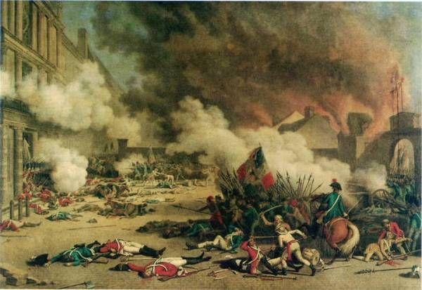 Gefechte beim 2. Tuileriensturm am 10.08.1792 (1793, Jean Duplessi-Bertaux)