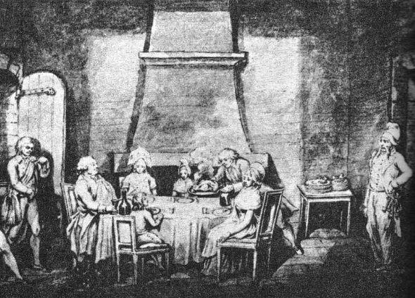 Das erste Essen der Königsfamilie nach der Überführung in den Temple.