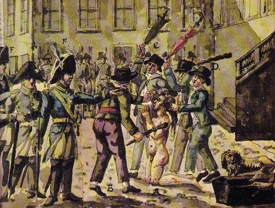 Graf von Fersen wird 1810 vom wütenden Volk gemeuchelt