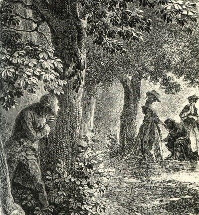 """das nächtliche Treffen Rohans mit der """"falschen"""" Antoinette"""