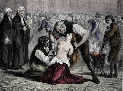 öffentliche Bestrafung der Jeanne de la Motte