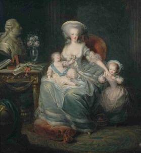 Marie Antoinette und ihre Kinder Louis-Joseph und Mme Royale (1782, Charles Leclercq)
