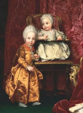 Maria Karolina mit ihrem Bruder Ferdinand (Anton Raphael Mengs)