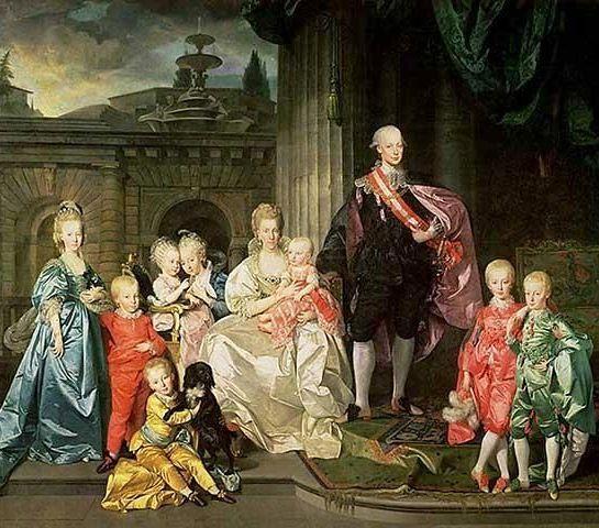 Maria Ludovica mit ihrem Ehemann Leopold und den Kindern (1776, Johann Zoffany)