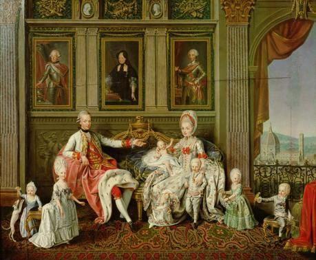 Leopold II. mit seiner Familie (1773, Wenceslaus Werlin)