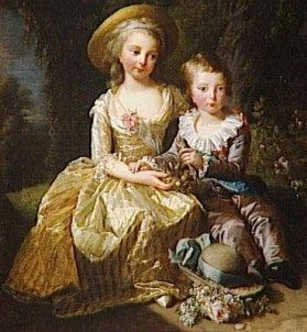 Louis-Joseph mit seiner großen Schwester Mme Royale (1784/85, Elisabeth Vigée-Lebrun)