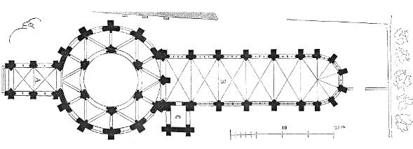 Plan der Templerkirche um 1856