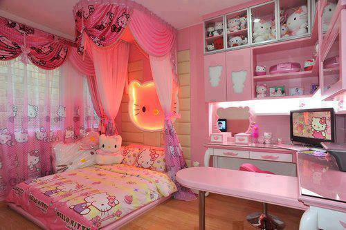 hello kitty zimmer good elegantes ideen mdchen lila hello. Black Bedroom Furniture Sets. Home Design Ideas