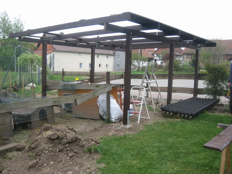 Baubeginn am Kaninchenstall