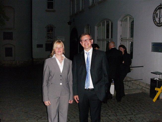 Sabine Gralla mit Herrn Maus