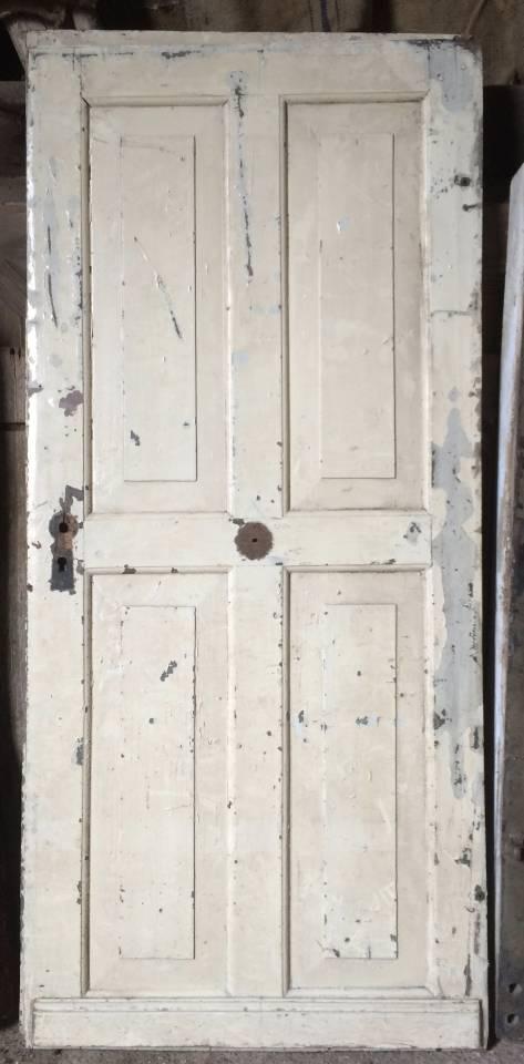 massive Doppeltür aus Eiche - Beschläge noch vorhanden