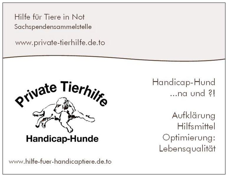 private-tierhilfe Flyer