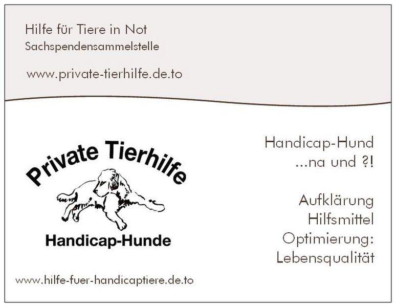 private-tierhilfe Flyer