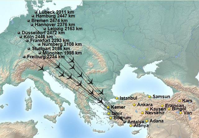 Flugzeiten Frankfurt Antalya